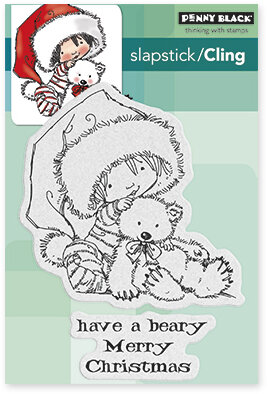 Beary Merry - Christmas Cling Rubber Stamp