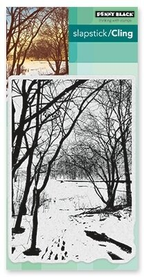 Wintry Trail - Slapstick Cling Rubber Stamp