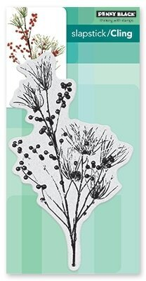 Berry Speckled - Slapstick Cling Rubber Stamp