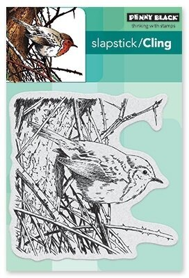 Feathers and Twigs - Slapstick Cling Rubber Stamp