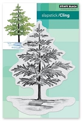 Christmas Foliage - Cling Rubber Stamp