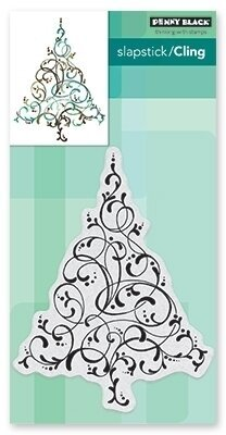 Flourishing Tree - Christmas Cling Rubber Stamp