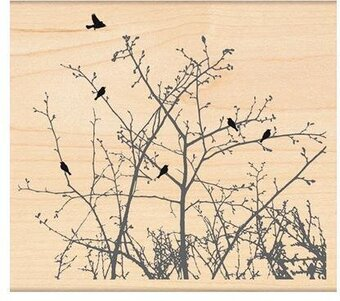 Winter Ledge - Wood Rubber Stamp