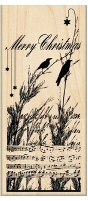 Nature's Choir Birds - Christmas Rubber Stamp