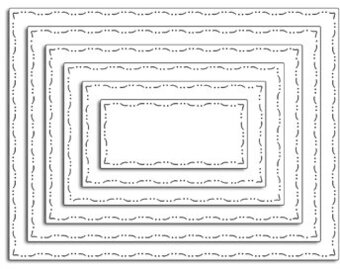 Elegant Stitching Rectangles - Penny Black Craft Dies
