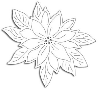 Poinsettia Cut Out - Penny Black Christmas Craft Die