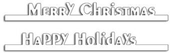 Holiday Edgers - Penny Black Christmas Craft Die