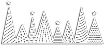 Christmas Tree Border - Penny Black Christmas Craft Dies