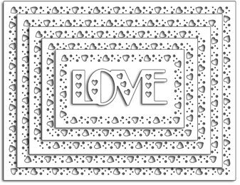 Lovely Border - Penny Black Die