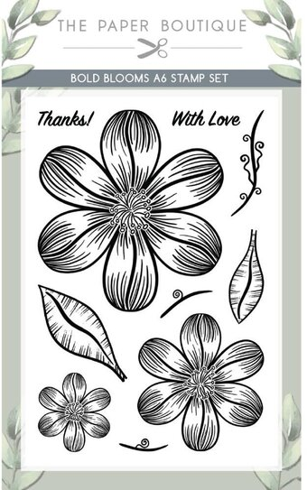 Bold Blooms - A6 Clear Stamp