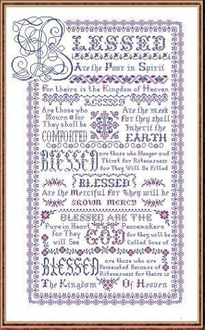 Blessed Be - Cross Stitch Pattern