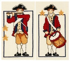 Little Patriot Set - Fifer & Drummer - Cross Stitch Kit