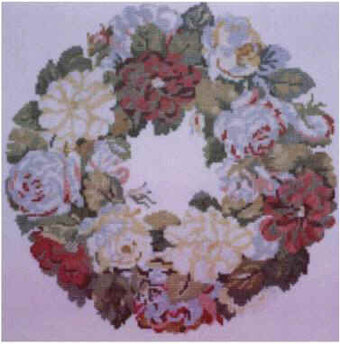 Nelly Custis Rose Wreath - Cross Stitch Kit