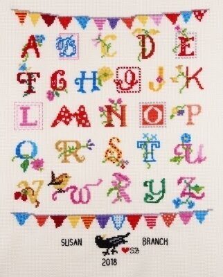 Susan Branch Alphabet Sampler - Cross Stitch Kit