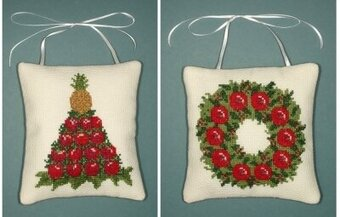 Colonial Christmas Ornaments - Cross Stitch Kit