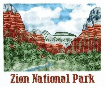 ZIon National Park - Cross Stitch Kit