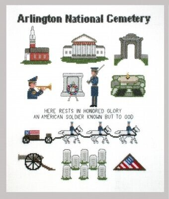 Arlington National Cemetery Sampler - Cross Stitch Kit