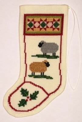 Colonial Sheep Christmas Stocking - Cross Stitch Kit