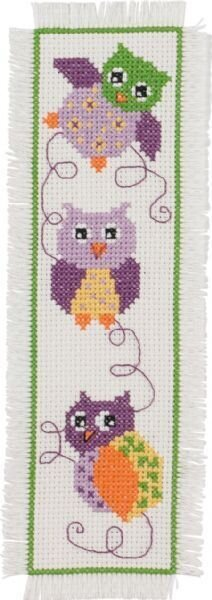 Owls Bookmark - Cross Stitch Kit