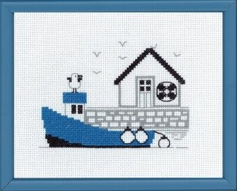 Blue Boat - Cross Stitch Kit