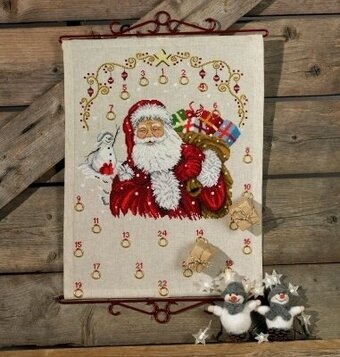 Santa Claus Advent Calendar - Cross Stitch Kit