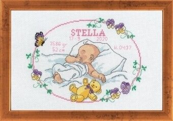 Stella - (Birth Sampler) - Cross Stitch Kit