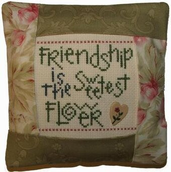 Friendship Pillow Kit - Cross Stitch Kit
