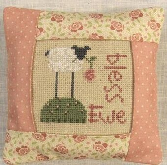 Bless Ewe Pillow Kit - Cross Stitch Kit