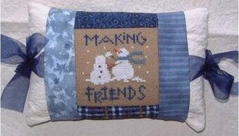 Making Friends Pillow - Cross Stitch Kit