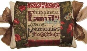Family Tie One On Pillow - Cross Stitch Kit