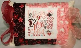 February Expressions Pillow - Cross Stitch Kit