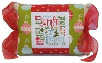 December Expressions Pillow - Cross Stitch Kit