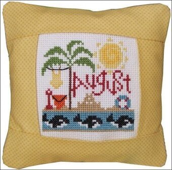 August 2011 Small Pillow Kit - Cross Stitch Kit