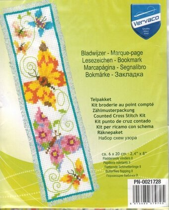 Butterflies Flapping II Bookmark - Cross Stitch Kit