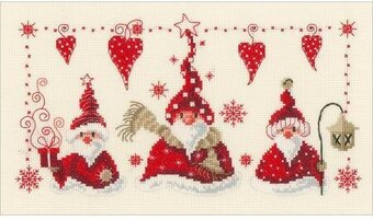 Cheerful Santas - Cross Stitch Kit