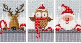 Christmas Buddies I Greeting Cards - Cross Stitch Kit