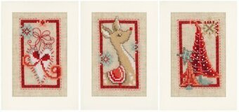 Christmas Cards Christmas Symbols - Cross Stitch Kit