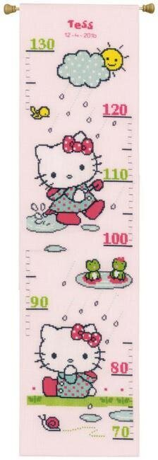 Hello Kitty Rainy Growth Chart - Cross Stitch Kit