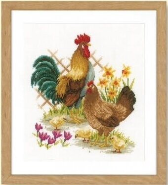 Chicken Family - Cross Stitch Kit