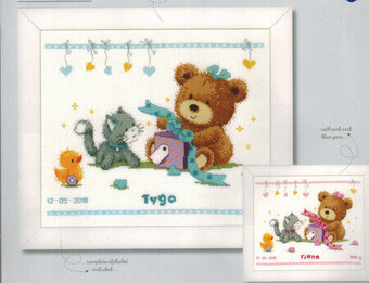 Bear & Present - Cross Stitch Kit
