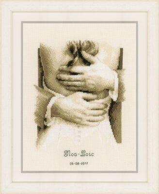 Newlyweds Wedding Announcement - Cross Stitch Kit