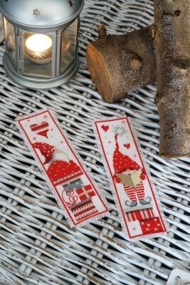 Christmas Gnome Bookmarks - Set of 2 - Cross Stitch Kit