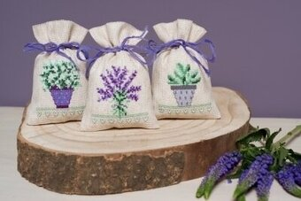 Provence - Set of 3 Bags - Cross Stitch Kit