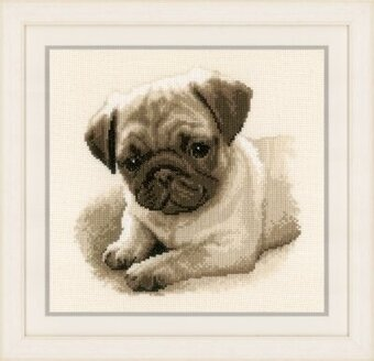 Pug Dog - Cross Stitch Kit