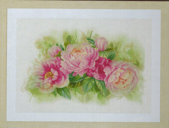 Bouquet of Peonies - Cross Stitch Kit