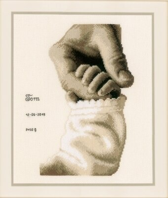 Baby Love Birth Announcement - Cross Stitch Kit