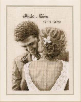 Wedding Happiness - Announcement - Cross Stitch Kit