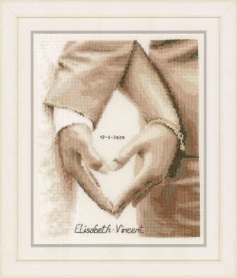 Heart of the Newlyweds - Cross Stitch Kit