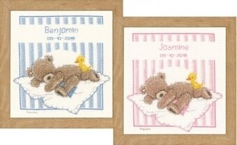 Popcorn Bear & Souffle Duck - Cross Stitch Kit
