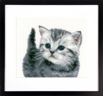 Grey Tiger Kitten - Cross Stitch Kit